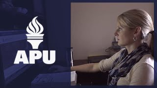 American Public University graduate Shannon O'Brien explains how the online classroom allowed her to set her own pace.  APU offers personalized learning support and career services tailored to you.  Start classes today, visit http://www.StudyAtAPU.com