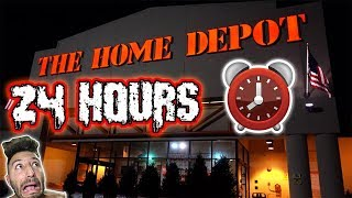 24 HOUR OVERNIGHT CHALLENGE AT HOME DEPOT GIANT BOX FORT | HIDE AND SEEK AT HOME DEPOT OVERNIGHT