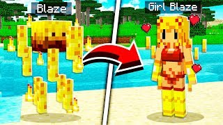 How to Turn EVERY MOB INTO CUTE GIRLS in Minecraft!