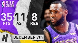 LeBron James Full Highlights Lakers vs Spurs 2018.12.07 - 35 Pts, 11 Ast, 8 Rebounds!