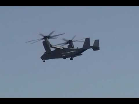 Flybys of the USMC CH-46E Sea Knight...