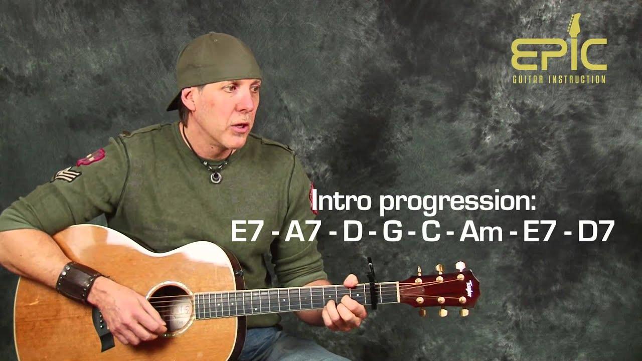 Easy beginner guitar song lesson learn Simon n Garfunkel Mrs Robinson with chords licks patterns