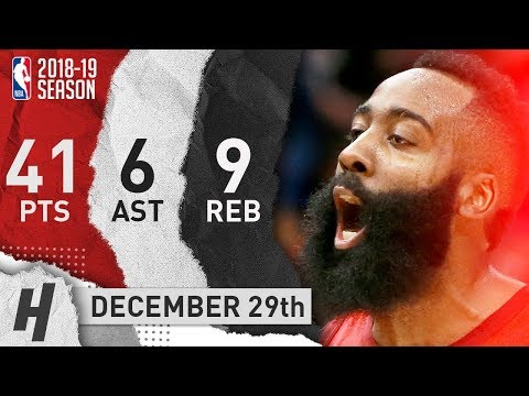 James Harden Highlights vs Pelicans: 41 Points