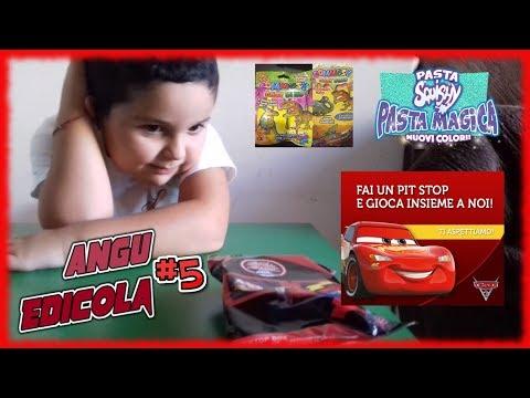 Angu edicola 5 - Slime cambia colore - Gommosy Baby Dino - Cars 3 PitStop Box (видео)