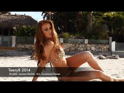 Constance Nunes, Leanna Decker and Avi in TeenyB Bikinis