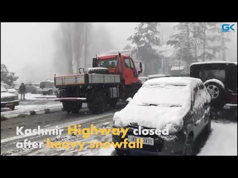 Kashmir Highway closed after heavy snowfall