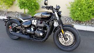 2. 2018 Triumph Bobber Black - Jet Black