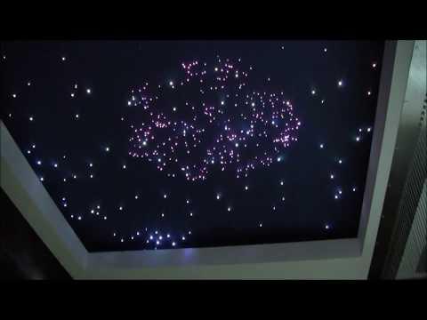 Zestaw Galaktyka  na suficie, oświetlenie mieszkania LED