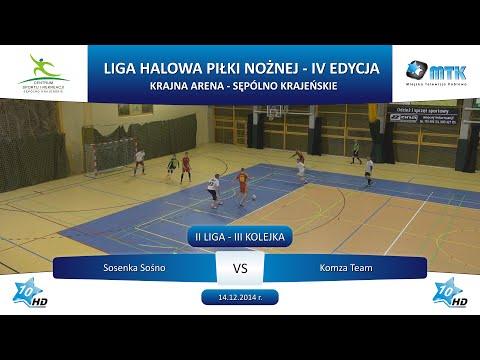 II Liga - III Kolejka: Sosenka Sośno - Komza Team 3:6, 14.12.2014 r.