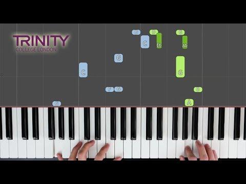 The Ballerina / TRINITY Grade 2 2018-2020 / Synthesia 'live keys' tutorial