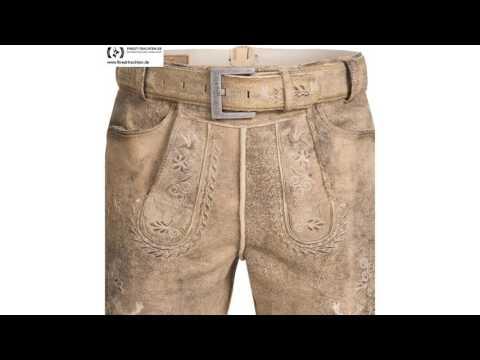 Finest-Trachten.de: Kurze Lederhose in Hellbraun von Marjo Trachten