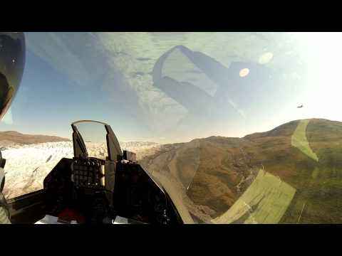 GoPro Vid From F16 Cockpit Flying over Greenland