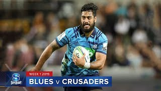 Blues v Crusaders Rd.1 2019 Super rugby video highlights| Super Rugby Video Highlights