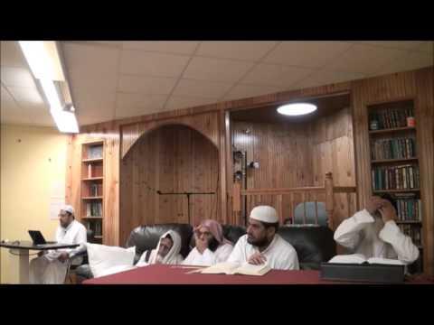 قراءة مسلم على ش.ظهير الدين وعبد الرحمن المباركفوريين من قوله :