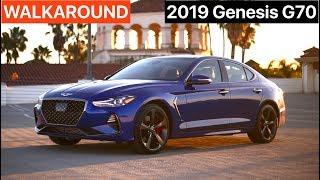 2019 Genesis G70 3.3T Sport WALKAROUND by MilesPerHr