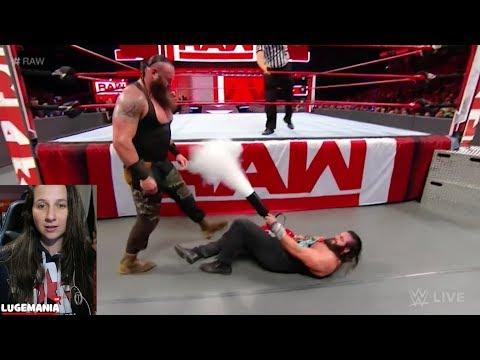 WWE Raw 2/26/18 Braun Strowman vs Elias