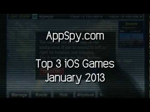 www.appspy.com - AppSpy.com's Top 3 iOS Games for January, 2013. Visit http://www.appspy.com for more great iPhone and iPad game reviews. Approximate Installed Size - MB http...