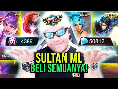 SULTAN ML BACK! LANGSUNG BELI SEMUA SKIN LEGENDS TOTAL? 50.000 DIAMOND! - Mobile Legends Indonesia