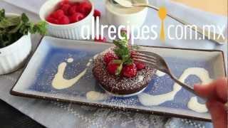 Cómo hacer pastel lava de chocolate