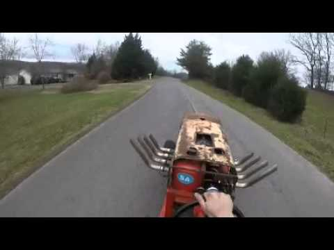 Guy Hooks a Chevy Big Block up to a Lawn Mower