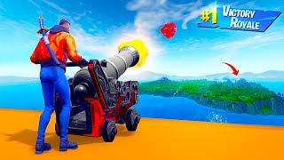 HOW FAR Can You CANNON LAUNCH PLAYERS in Fortnite