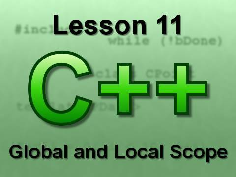 C++ Console Lesson 11: Global and Local Scope