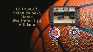 kk sava kk partizan 65 60 (pioniri, 17 12 2017 ) košarkaški klub sava