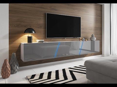 """TV-Lowboard """"Space"""", hängend oder stehend, inkl. LED Beleuchtung"""