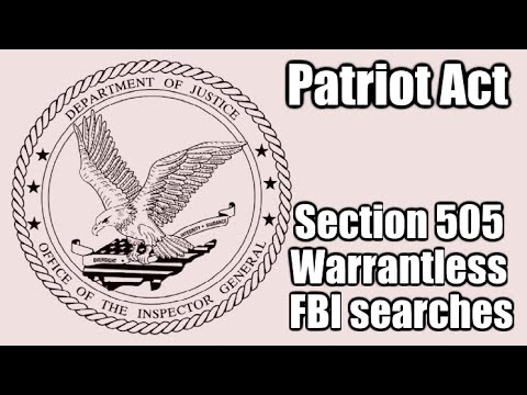 The Patriot Act is NOT expiring. FBI Warrantless Searches won't stop anytime soon.