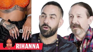 Video Tattoo Artists Critique Rihanna, Justin Bieber, and More Celebrity Tattoos | GQ MP3, 3GP, MP4, WEBM, AVI, FLV Maret 2019