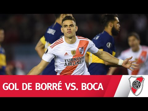 DEFINICIÓN COLOMBIANA. Rafael Borré abría el marcador frente a Boca.