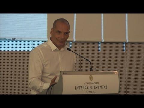 Ομιλία Γ.Βαρουφάκη στο πλαίσιο της Διεθνούς Συνάντησης των Περιοδικών Δρόμου
