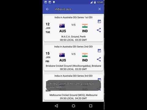 Video of Cricket Schedule