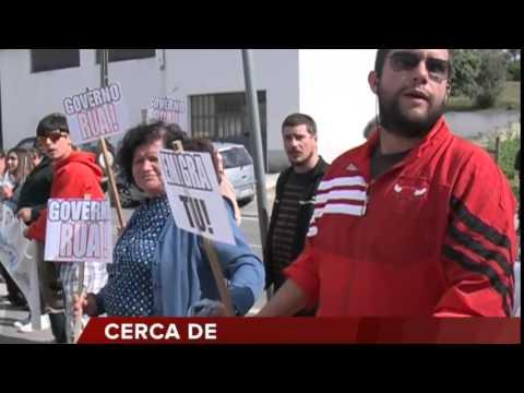 PASSOS RECEBIDO COM PROTESTOS EM ESTREMOZ