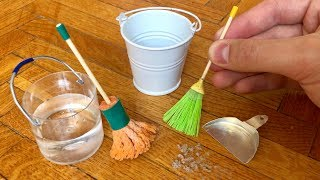 How to Make a Mini Cleaning Set - DIY Realistic Miniature - Doll House