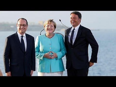 Brexit, οικονομία, ασφάλεια και νέοι στην συνάντηση Μέρκελ- Ολάντ- Ρέντσι