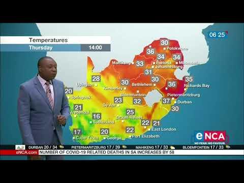 Weather forecast   29 October 2020