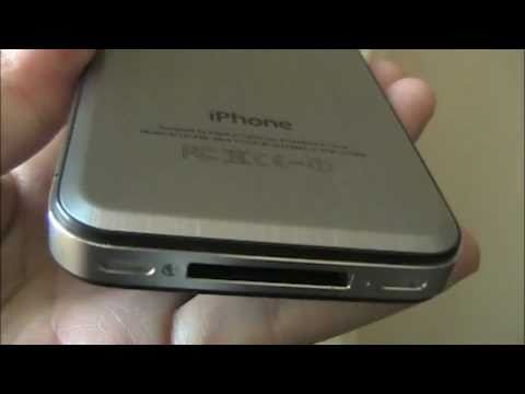 backplate - iPhone 4 has a swappable back plate? YES. And it's super easy to replace. Here, Adriana and a friend change out the iPhone 4's glass backplate with a metal o...