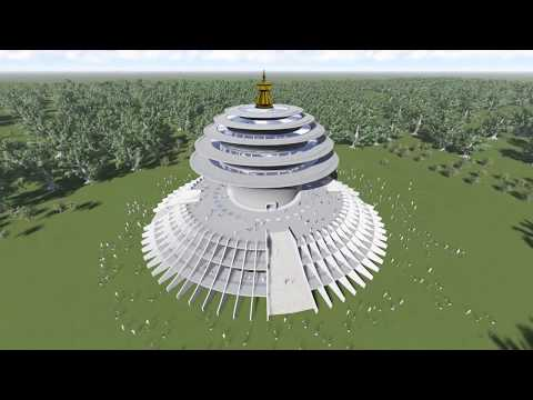 (Universal Peace Sanctuary in Lumbini by HE Shyalpa Tenzin Rinpoche - Duration: 5 minutes, 55 seconds.)