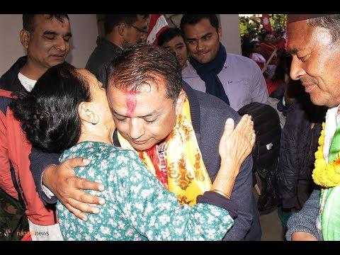 (Gagan Thapa poll campaign in Kathmandu - Duration: 108 seconds.)