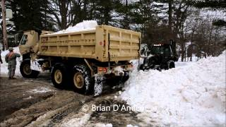 Braintree (MA) United States  city pictures gallery : Braintree MA - Mass National Guard Engineers Clear Snow From Town Streets - 2/12/15