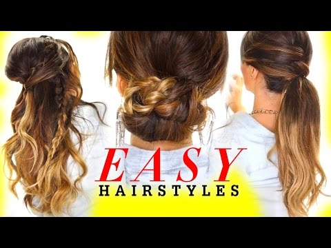 ★ 4 EASY HAIRSTYLES for GREASY Hair with Voloom | Holiday Hairstyles