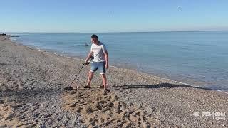 Тест Garrett Apex на глубину обнаружения на морском пляже