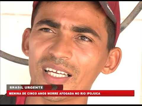 [BRASIL URGENTE PE] Menina de cinco anos morre afogada no Rio Ipojuca
