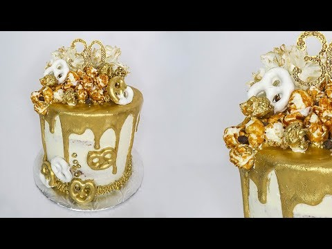Gold Drip Birthday Cake | Mundheep Makes