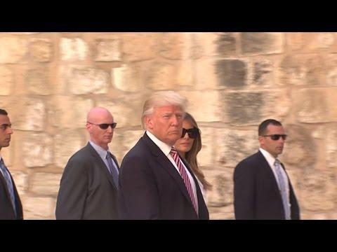 Визит Трампа в Израиль запомнился конфузами (видео)