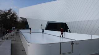 New Glice® synthetic ice rink at the World's biggest Penguine Center, at the Detroit Zoo!
