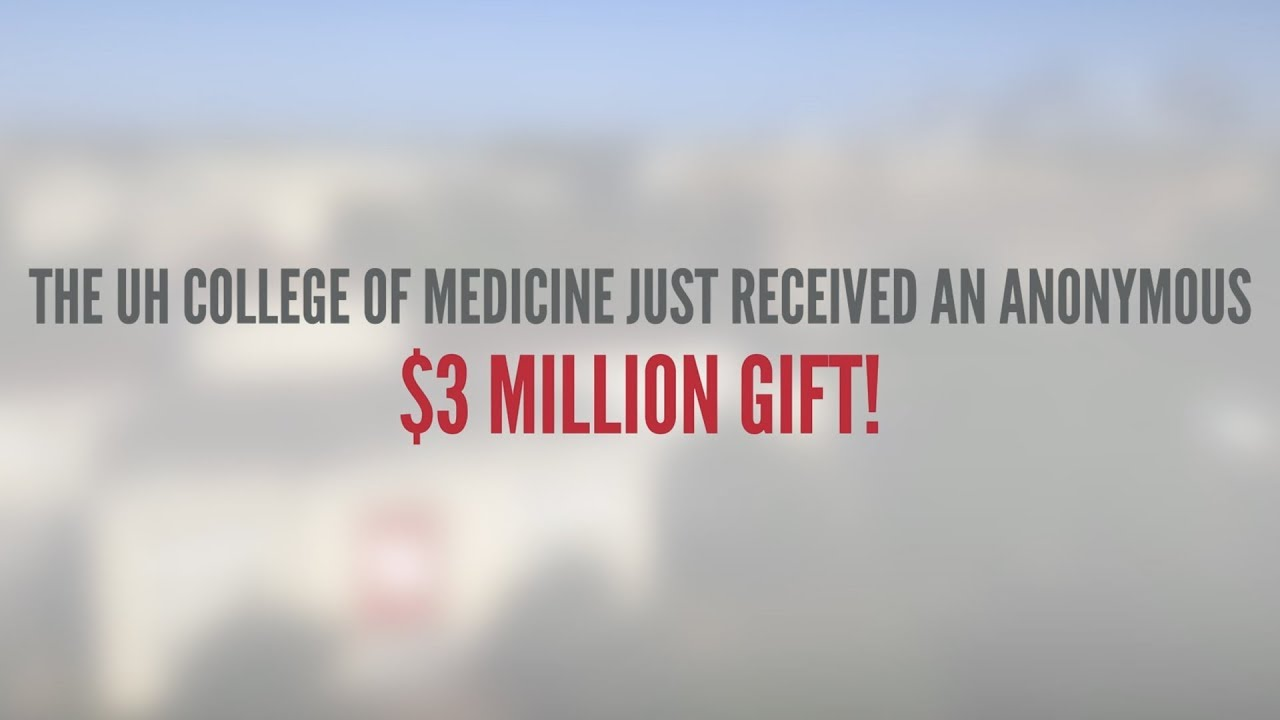 Anonymous Gift Pays Tuition for Entire First Class at UH College of Medicine