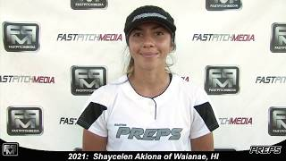 2021 Shaycelen Akiona Pitcher and Outfield Softball Skills Video - Easton Preps Hawaii