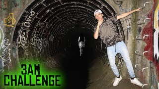HAUNTED FAZE RUG TUNNEL AT 3 AM (GATES OF HELL // ATTACKED BY SPIDERS)